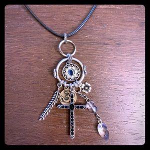 Lucky Brand Dreamcatcher Charm Necklace